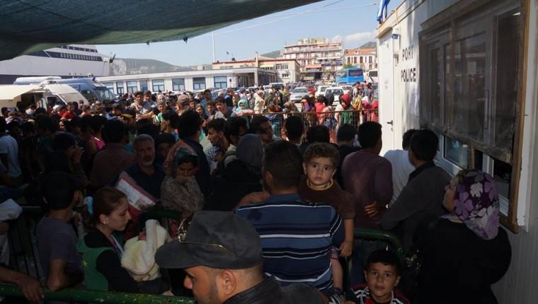 μετανάστες λιμάνι
